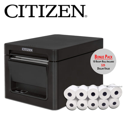 Citizen Printers printer Citizen Thermal Receipt Printer - BLACK USB Serial with Auto-cutter