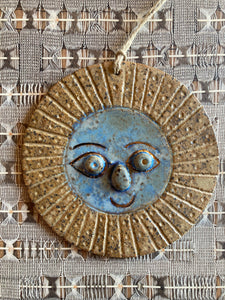 hanging ceramic sun & moon