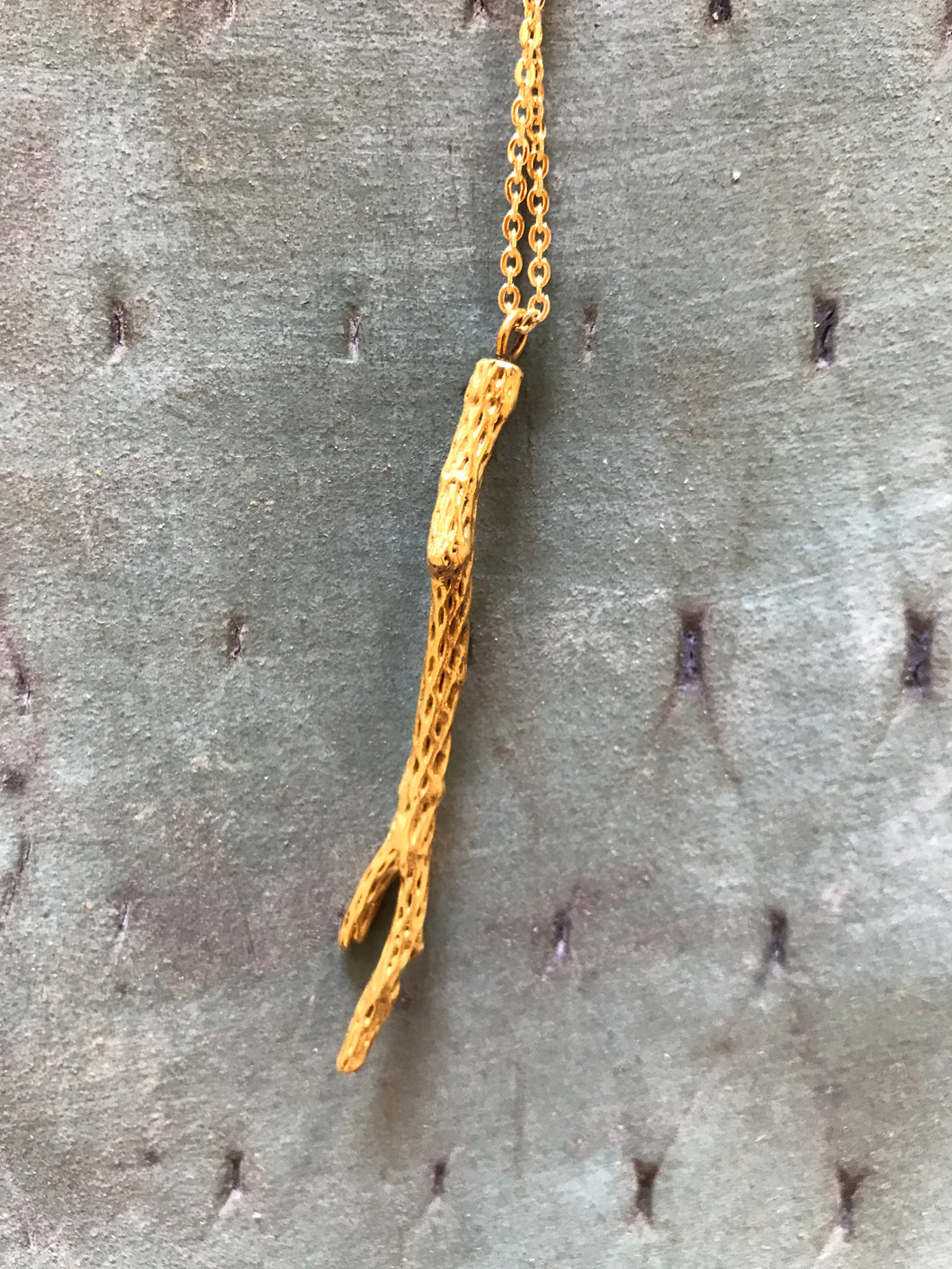 Sonámbulo Jewelry cholla brass necklace