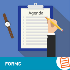 F-AD-001  Agenda Template for Board Meetings