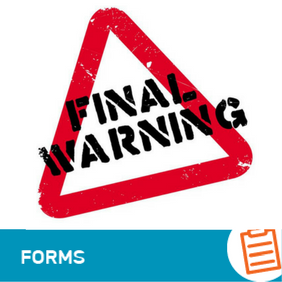 F-HR-003 Final Warning Letter Form