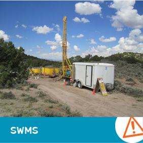 SWMS 9001 - Drill Rig Set up including water tanks & Ancillary Equip