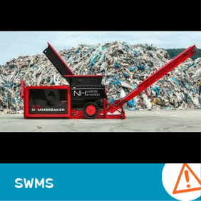 SWMS 4015 - Using Hammbreaker Shredder
