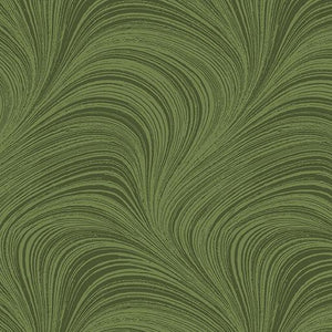 "108"" WIDE WAVE TEXTURE MEDIUM GREEN By Jackie Robinson for Benartex"