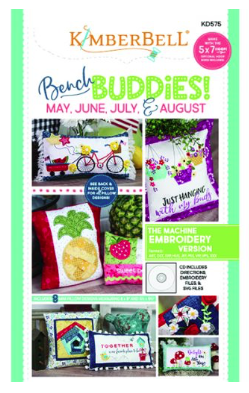 Kimberbell BENCH BUDDIES SERIES (MAY, JUNE, JULY, AUGUST) MACHINE EMBROIDERY CD