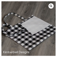 Load image into Gallery viewer, Kimberbell BUFFALO CHECK TOTE Black and Cream