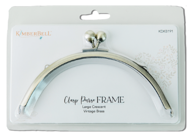 Kimberbell CLASP PURSE FRAME – LARGE CRESCENT