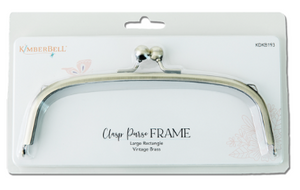 Kimberbell CLASP PURSE FRAME – LARGE RECTANGLE