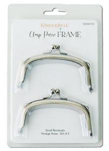 Kimberbell CLASP PURSE FRAME – SMALL RECTANGLE