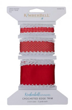 Load image into Gallery viewer, Kimberbell CROCHETED EDGE TRIM (RED)
