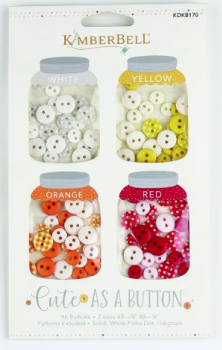 Kimberbell CUTE AS A BUTTON (WHITE, YELLOW, ORANGE, RED)