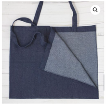 Load image into Gallery viewer, DENIM TOTE, 17″X15″, OPEN SEAMED