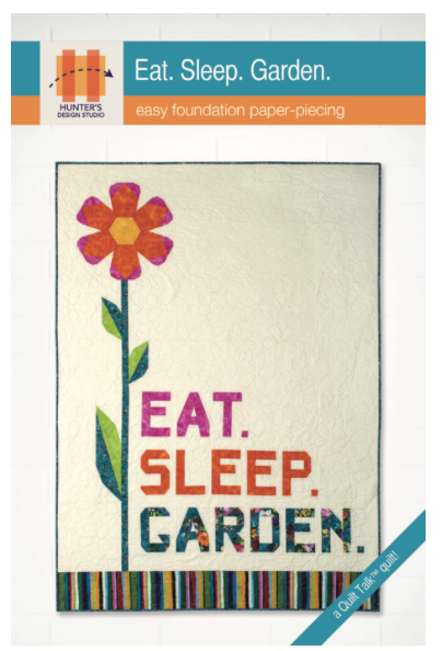 Eat Sleep Garden Pattern by Hunter's Design Studio