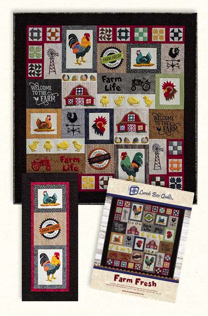 Farm Fresh Embroidery Kit by Lunch Box Quilts