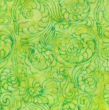 Load image into Gallery viewer, Foulard Swirl - Lemongrass from Cascadia by Island Batik