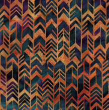 Load image into Gallery viewer, Geometric Arrow - Burnished Copper from Sundance by Island Batik