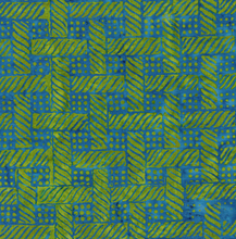 Load image into Gallery viewer, Grid with Bubbles - Chartreuse from Cascadia by Island Batik