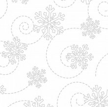 Load image into Gallery viewer, KimberBell Basics SNOWFLAKES White on White