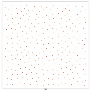 KimberBell Basics TINY DOTS White/Orange
