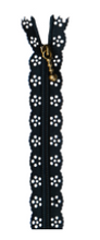 Load image into Gallery viewer, Kimberbell LACE ZIPPER (Navy - Darker Tone)
