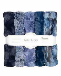 Luxe Cuddle Sweet Strips - CHAMBRAY by Shannon Fabrics
