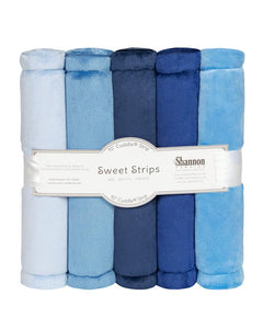 Luxe Cuddle Sweet Strips - DENIM by Shannon Fabrics
