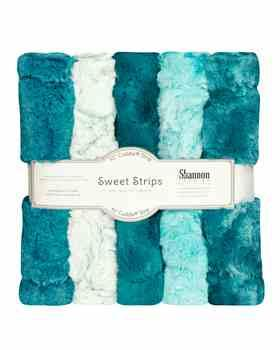 Luxe Cuddle Sweet Strips - LAGOON by Shannon Fabrics