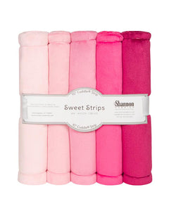 Luxe Cuddle Sweet Strips - PINK by Shannon Fabrics