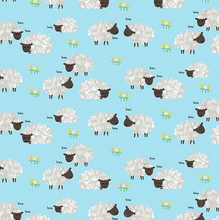 Load image into Gallery viewer, Sheep - Light Blue by Kate Mawdsley for Henry Glass & Co