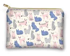 Sketched Cats Glam Bag by Moda Fabrics