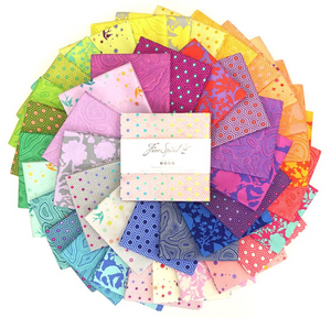 "True Colors 5"" CHARM PACK by Tula Pink for Free Spirit Fabrics"