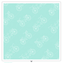Load image into Gallery viewer, Kimberbell Vintage Boardwalk DIAGONAL BICYCLES Fresh Teal