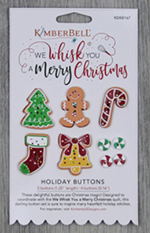 Kimberbell WE WHISK YOU A MERRY CHRISTMAS HOLIDAY BUTTONS