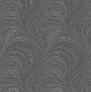 "Wide Wave Texture GRAPHITE 108"" Wide Back"