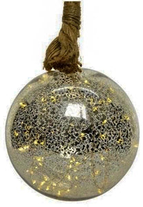 LED Hanging Large Glass Bauble