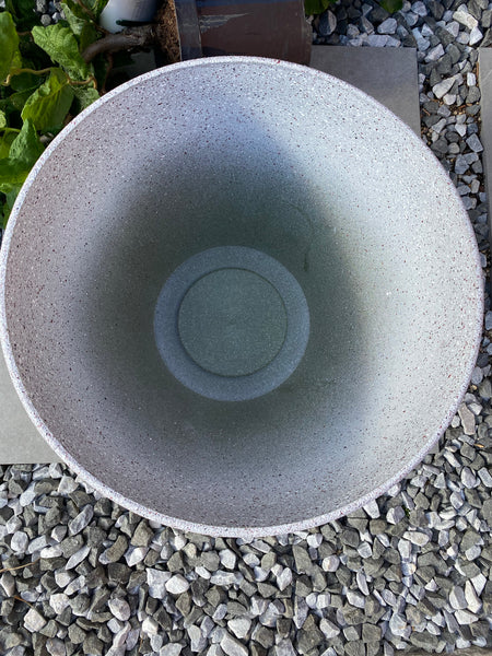 Stone Effect Planter 40cm Grey