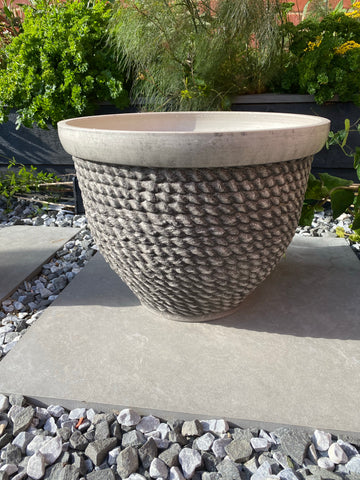Rope Planter 40cm Grey