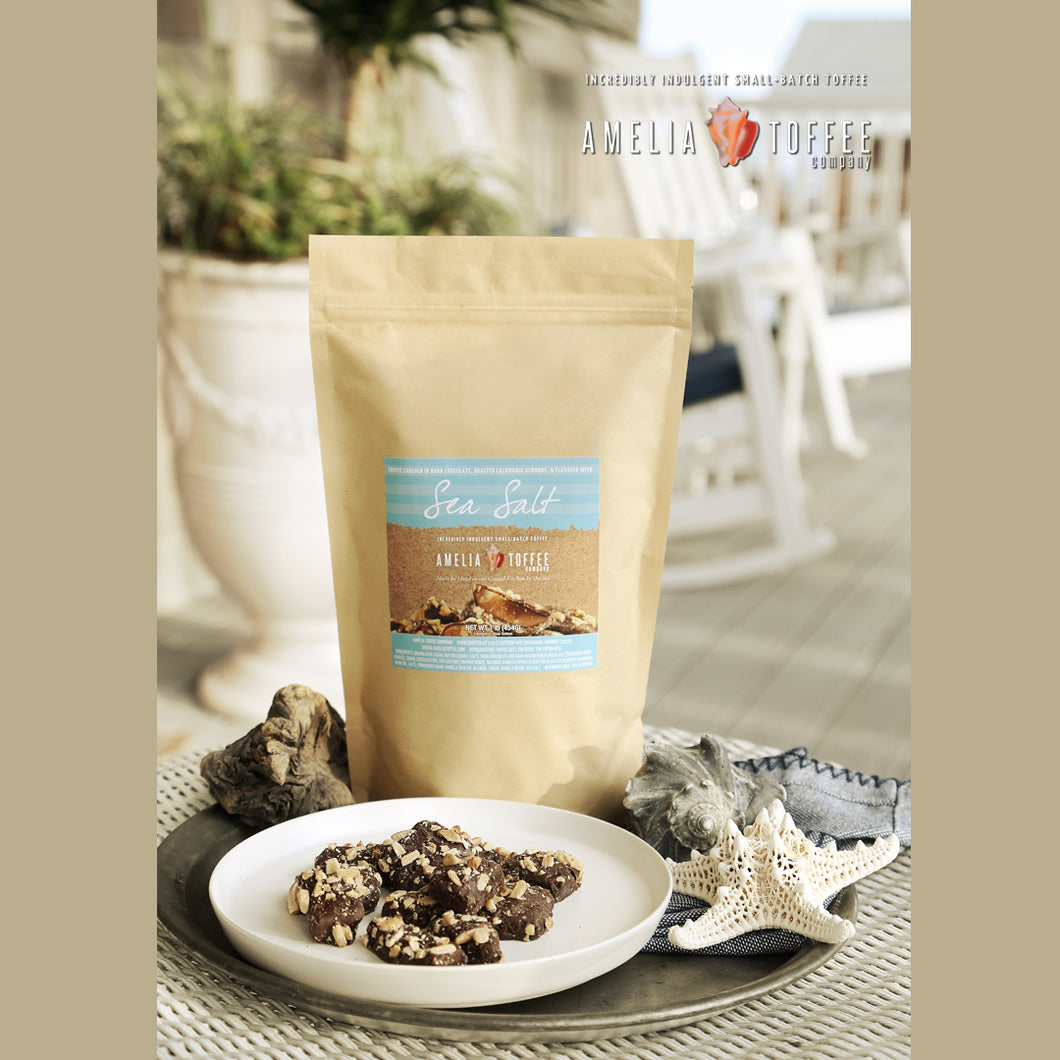 Sea Salt Toffee Family One Pound Kraft Bag