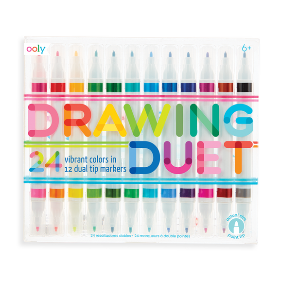 Ooly Drawing Duet Double-Ended Markers 12 pk