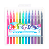 Ooly Brilliant Brush Markers 12 pk