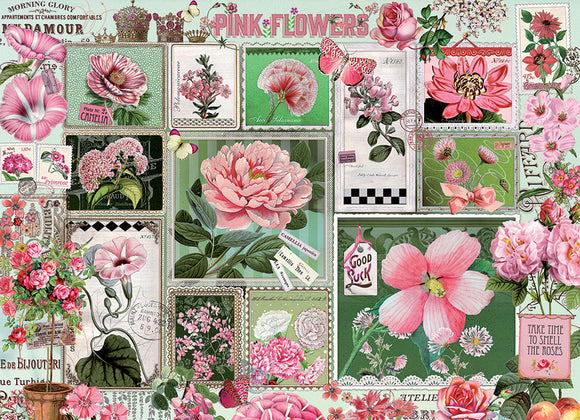 Cobble Hill 1000pc Puzzle 80042 Pink Flowers