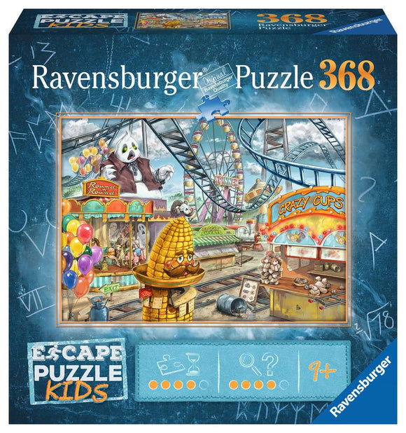 Ravensburger 368pc Escape Puzzle Kids 12936 Amusement Park Plight