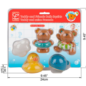 Hape Teddy & Friends Bath Squirts