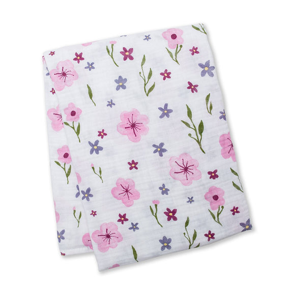 Lulujo Swaddle Blanket Lovely Floral
