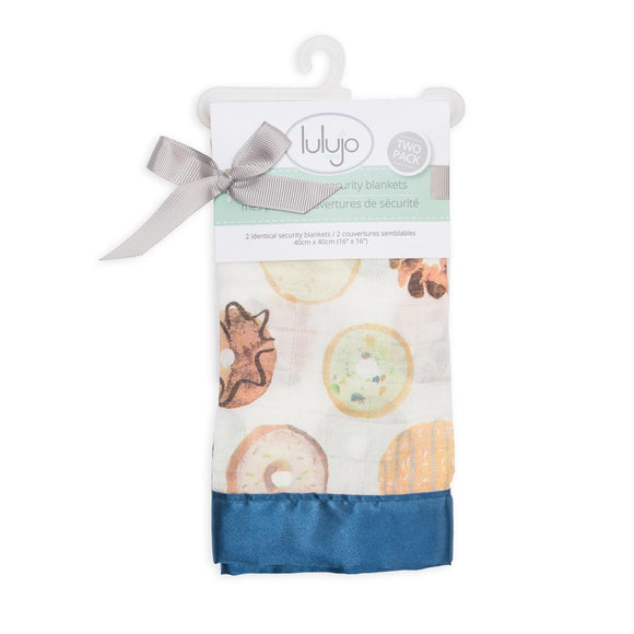 Lulujo Security Blanket 2pk Donuts