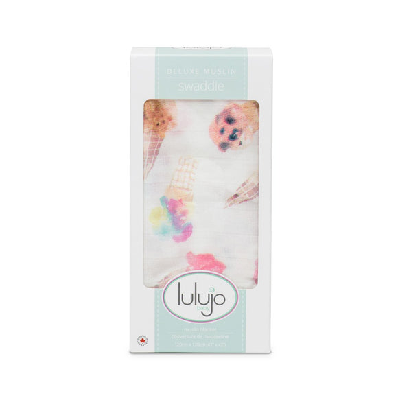 Lulujo Swaddle Blanket Ice Cream