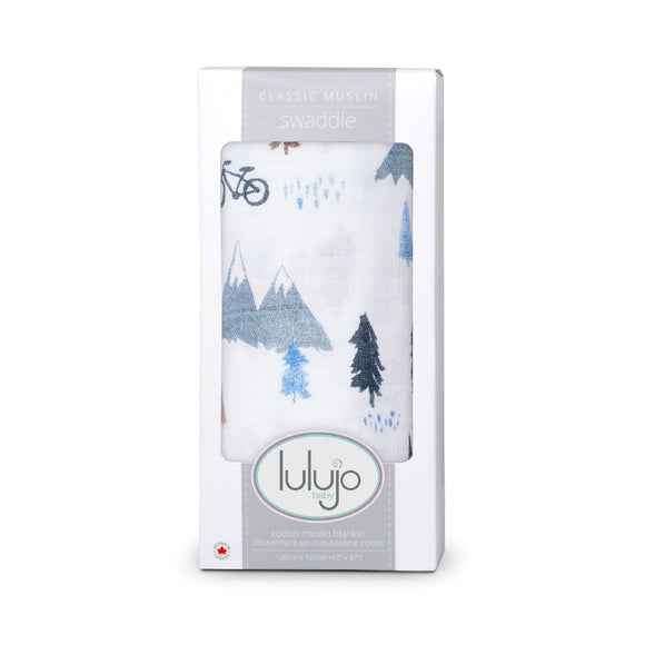 Lulujo Swaddle Blanket Mountain Top