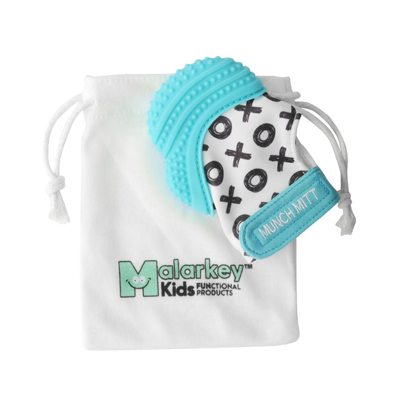 Malarkey Kids Munch Mitt Aqua Blue