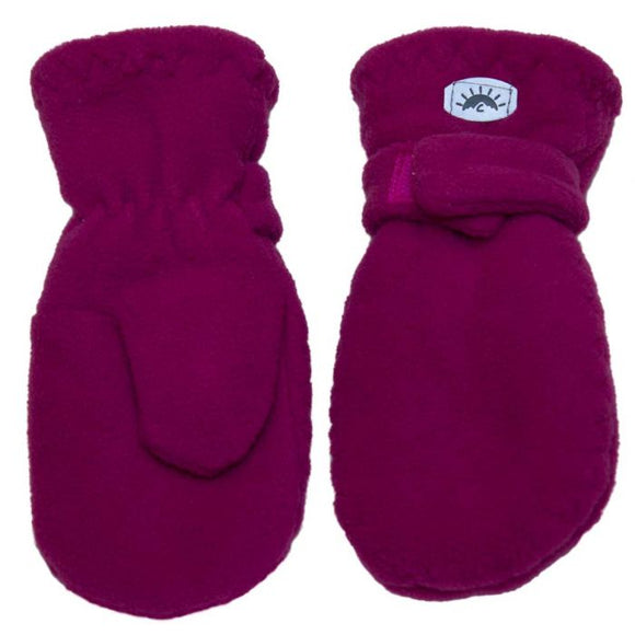 Calikids W1886 Fleece Mitten With Velcro - Cabaret
