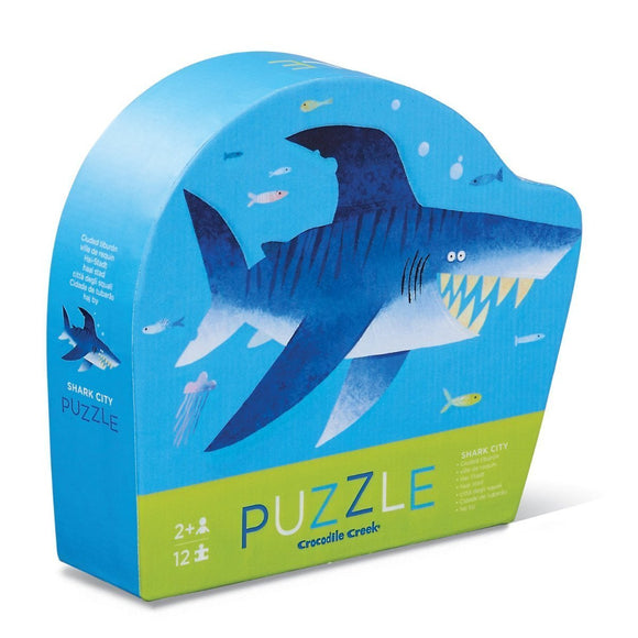 Crocodile Creek 12pc Mini Puzzle Shark City